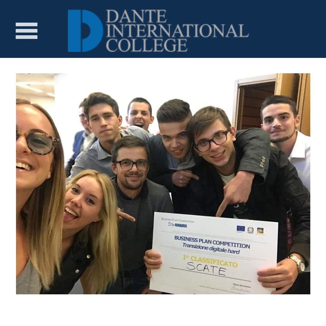Primo premio agli studenti del Dante International College